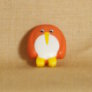 Muench Plastic Buttons - Penguin - Orange (15mm)