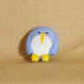 Muench Plastic Buttons - Penguin - Light Blue (15mm)