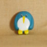Muench Plastic Buttons - Penguin - Aqua (15mm)