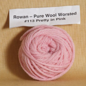Rowan Pure Wool Worsted Samples Yarn - 113 Pretty in Pink
