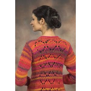 Plymouth Yarn Sweater & Pullover Patterns - 2105 Woman's Long Cardigan Pattern