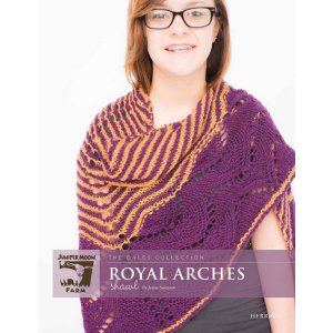 Juniper Moon Farm The Dales Collection Patterns - Royal Arches Shawl Pattern
