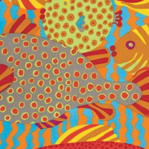 Brandon Mably Gone Fishing Fabric - Bright