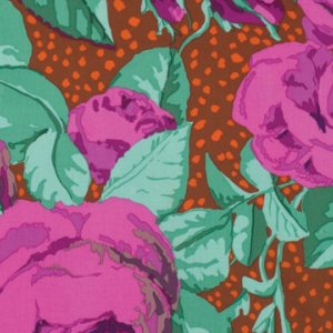 Kaffe Fassett August Rose Fabric - Magenta