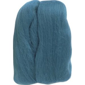 Clover Natural Wool Roving Yarn - Teal
