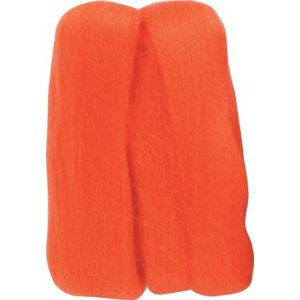 Clover Natural Wool Roving Yarn - Orange