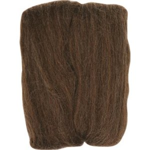 Clover Natural Wool Roving Yarn - Chocolate