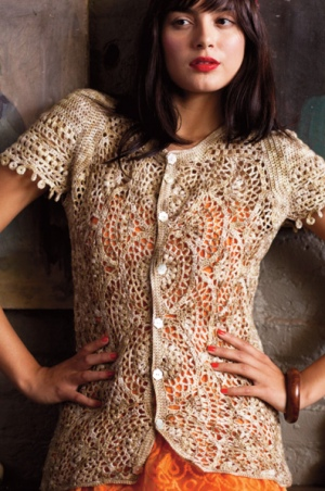 Knit One, Crochet Too Crock-O-Dye Scallop Stitch Cardi Kit - Crochet for Adults