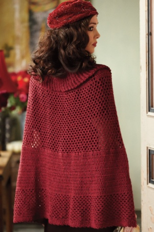 Blue Sky Alpacas Melange Mesh Cape Kit - Crochet for Adults