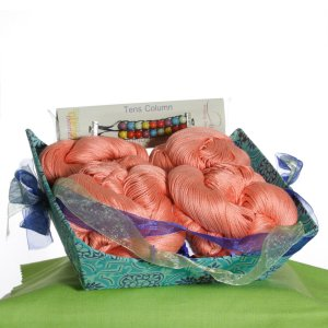 Jimmy Beans Wool Seasonal Gift Baskets - Small Spring Basket- Coral