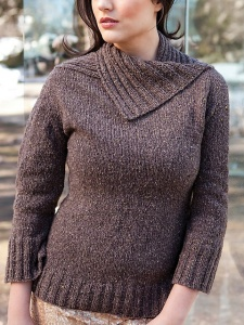 Berroco Blackstone Tweed Delany Pullover Kit - Women's Pullovers