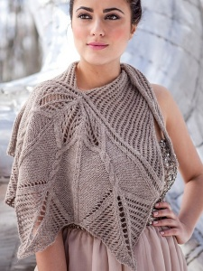 Berroco Ultra Alpaca Light Sturgeon Shawlette Kit - Scarf and Shawls