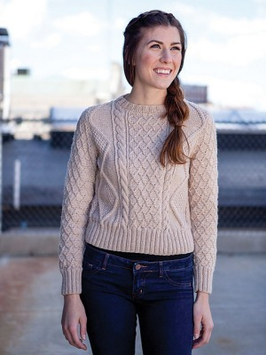 Berroco Vintage Retta Cabled Sweater Kit - Women's Pullovers