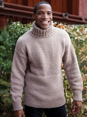 Berroco Vintage Chunky Lance Pullover Kit - Mens Sweaters