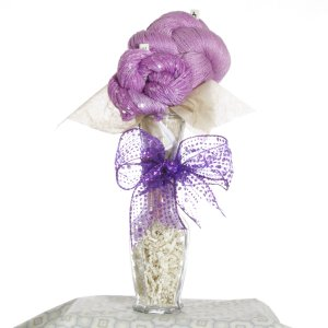 Jimmy Beans Wool Yarn Bouquets - TSC Artyarns Bedazzle Empress Bouquet- Lilac Blossoms