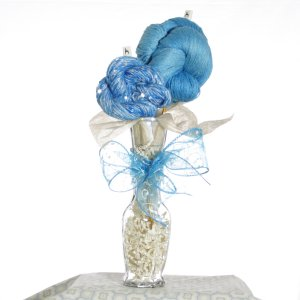 Jimmy Beans Wool Koigu Yarn Bouquets - TSC Artyarns Bedazzle Empress Bouquet- My Blue Heaven