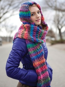 Berroco Brio Stratton Hood Scarf Kit - Hats and Gloves