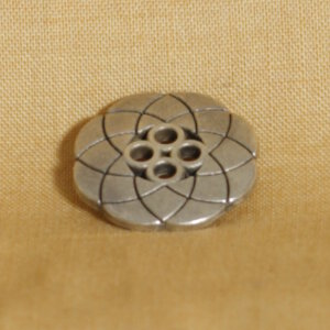 Muench Metal Buttons - Atomic Flower (Silver) - Large