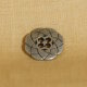 Muench Metal Buttons - Atomic Flower (Silver) - Small