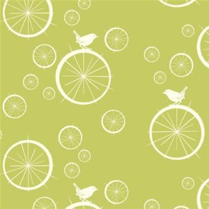 Birch Fabrics Mod Basics Fabric - Birdie Spokes - Grass