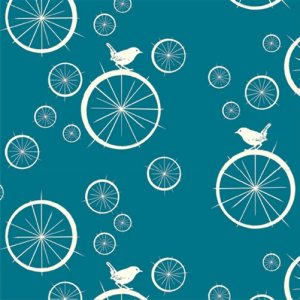 Birch Fabrics Mod Basics Fabric - Birdie Spokes - Teal