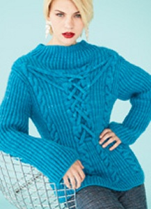 Lorna's Laces Haymarket Applied Cable Fisherman's Rib Top Kit - Women's Pullovers