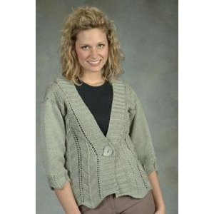 Plymouth Yarn Jacket & Cardigan Patterns - 1864 Ripples and Lace Cardigan Pattern