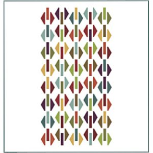 Moda Hexagon Shuffle Bella Solids Honeycomb Quilt Kit - Home Accessories