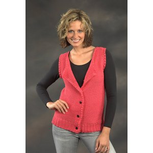 Plymouth Adult Vest Patterns - 2245 Women's Garter Stitch Shell Pattern
