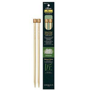 "Clover Takumi Velvet Single Point Needles - US 0 - 9"" Needles"