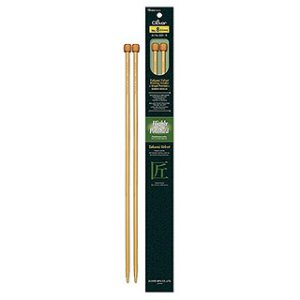 "Clover Takumi Velvet Single Point Needles - US 15 - 14"" Needles"