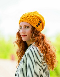 Plymouth Galway Worsted Beekeeper Slouch Kit - Hats and Gloves