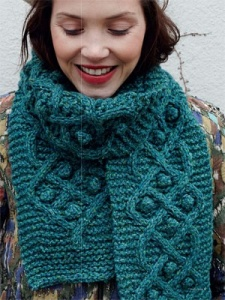 Debbie Bliss Winter Garden Cabled Scarf Kit - Scarf and Shawls
