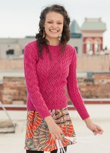 Plymouth Galway Worsted Fabrication Pullover Kit - Women's Pullovers