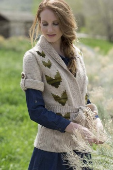 Brown Sheep Lambs Pride Worsted Plowman Cardigan Kit - Women's Cardigans