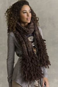 Tahki Coyote and Boulder Hugo Fur End Scarf Kit - Scarf and Shawls