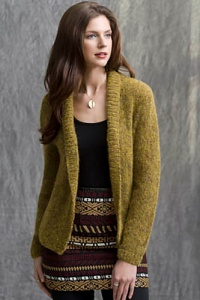 Tahki Kismet Gold Coast Shawl Collar Cardigan Kit - Women's Cardigans