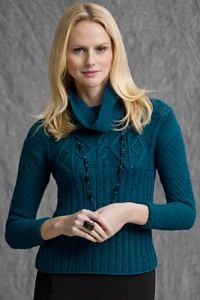 Tahki Aria Cape Cod Fitted Pullover Kit - Women's Pullovers