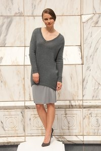 Shibui Cima & Silk Cloud Veer Pullover Kit - Women's Pullovers