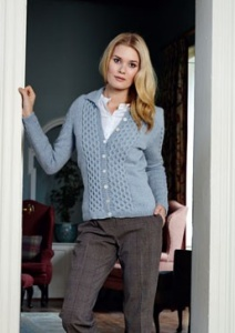 Debbie Bliss Blue Faced Leicester DK Honeycomb Cardigan Kit - Women's Cardigans