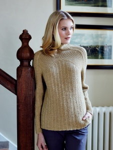Debbie Bliss Blue Faced Leicester DK Cable and Rib Sweater Kit - Women's Pullovers
