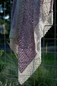 Madelinetosh Pashmina and Merino Light Sweet Azalea Crocheted Blanket Kit - Crochet for Kids