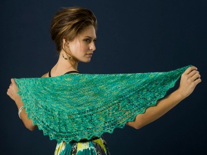TSCArtyarns Tranquility or Tranquility Glitter Trailing Vines Shawl Kit - Scarf and Shawls