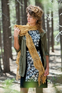 Universal Yarns Bamboo Bloom Hoptree Scarf Kit - Scarf and Shawls