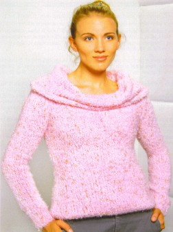 Trendsetter Yarn Patterns - 3122 - Delicious Shaped Body Pullover w/Large Cowl Pattern