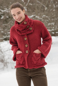 Classic Elite Wynter Koko Jacket and Cowl Kit - Women's Cardigans
