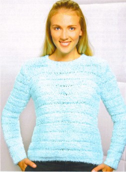 Trendsetter Yarn Patterns - 3119 - Delicious Drop Stitch Pullover Pattern