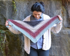 The Fibre Company Terra Edgewood Shawlette Kit - Scarf and Shawls