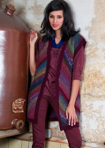 Noro Cyochin Flavored Diagonal Striped Vest Kit - Vests