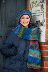 Noro Obi Smoothie Scarf & Hat Set Kit - Scarf and Shawls